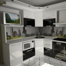 Дизайн кухни с телевизором: особенности размещения