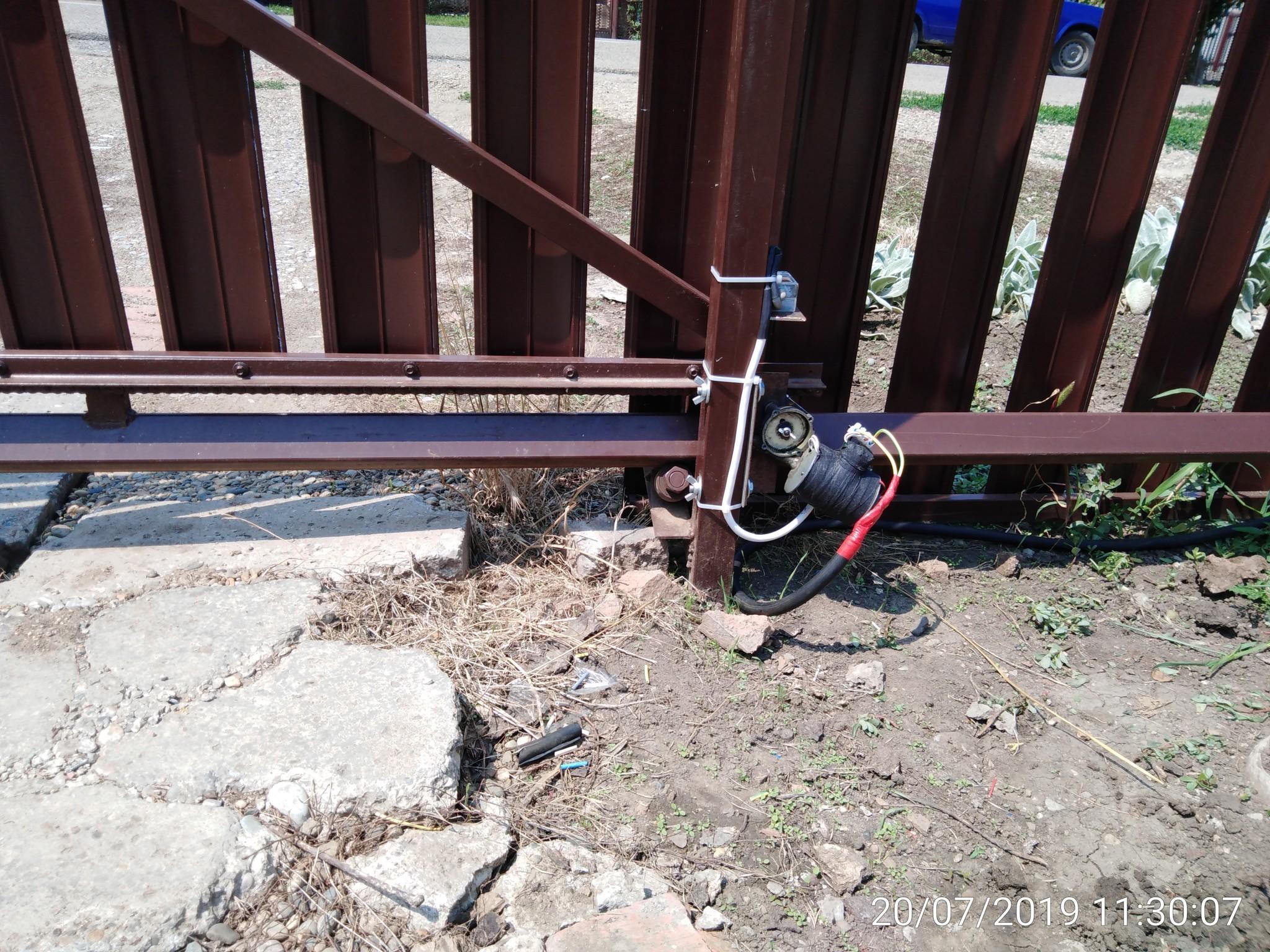 схема подключения откатных ворот с электроприводом