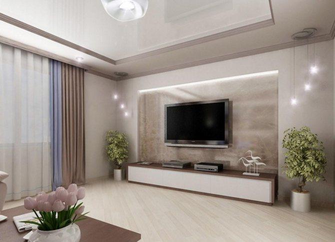 декор гостиной в современном стиле