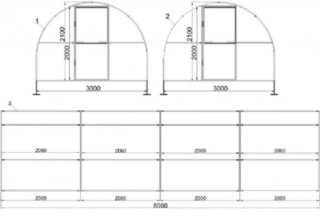 Как правильно расположить теплицу на участке по сторонам света?