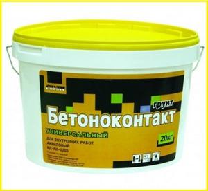 Бетон-контакт: применение грунтовки, технические характеристики и расход на 1 м²