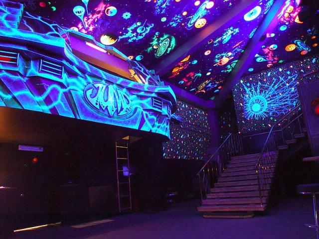 Светящиеся обои с 3d эффектом для стен в детскую, флуоресцентные со звездами