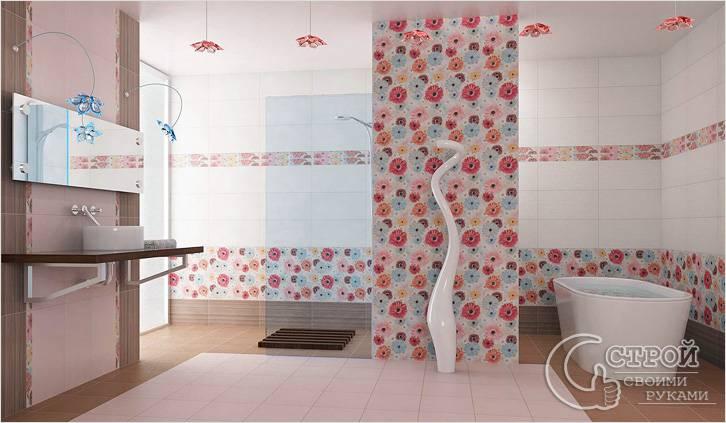 Чем отделать ванную комнату кроме плитки: альтернативы