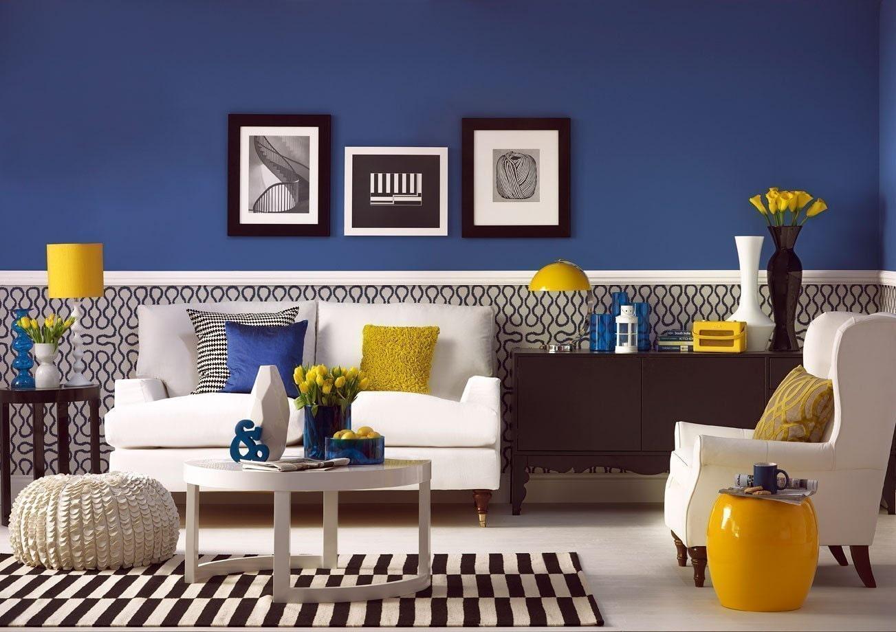 Роскошь индиго — темно-синие обои (70+ фото): психология цвета в интерьере и советы дизайнеров