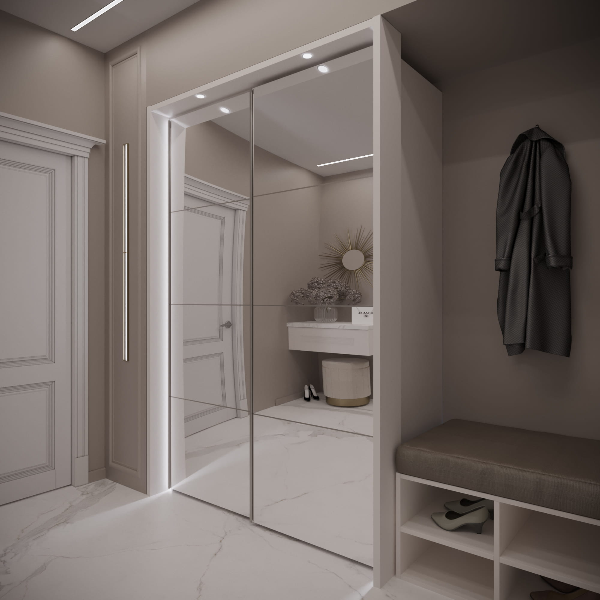 Гардеробная в прихожей (55 фото): встроенный шкаф-гардероб в коридоре, угловые мини-гардеробные для маленькой прихожей и другие варианты