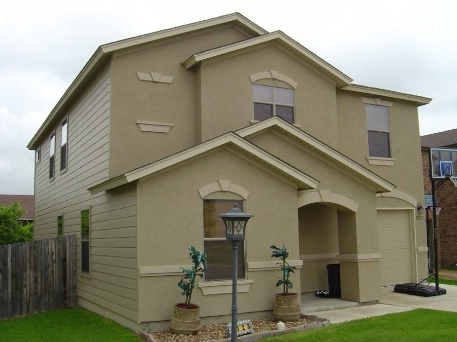 отделка фасадов частных домов