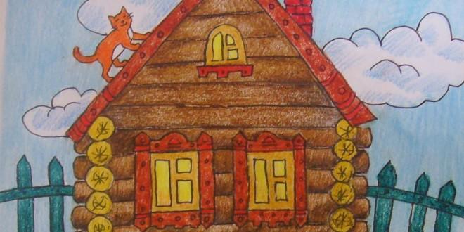 Раскраски и картинки домов для детей. как нарисовать красивый дом своей мечты карандашом поэтапно?