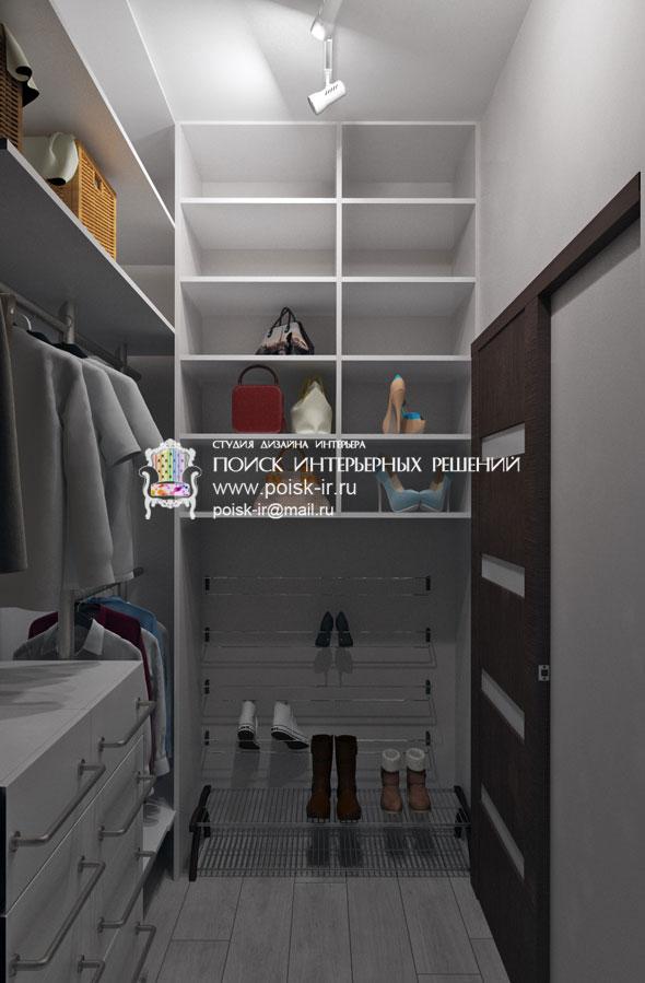 встроенная гардеробная в комнате фото