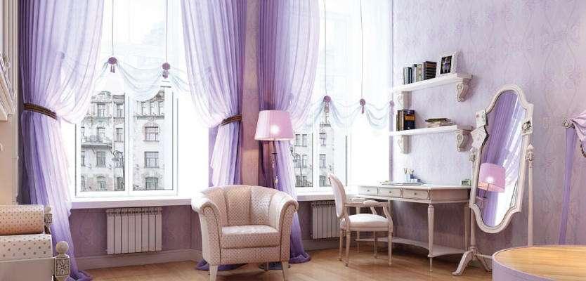 Сиреневый цвет в интерьере: 210+ (фото) сочетаемости дизайна