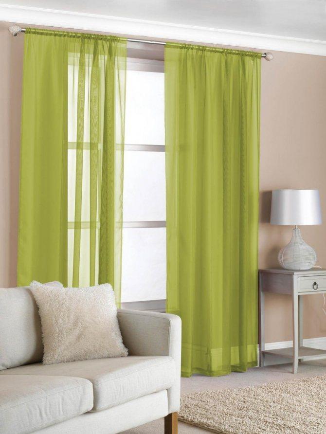 оливковые шторы в гостиную фото