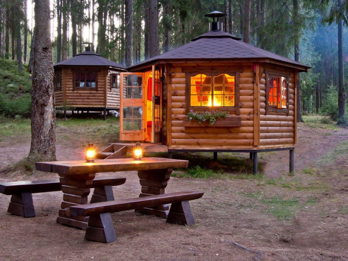 Как построить финский гриль домик своими руками