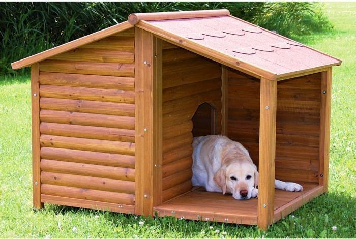 как сделать собачью будку