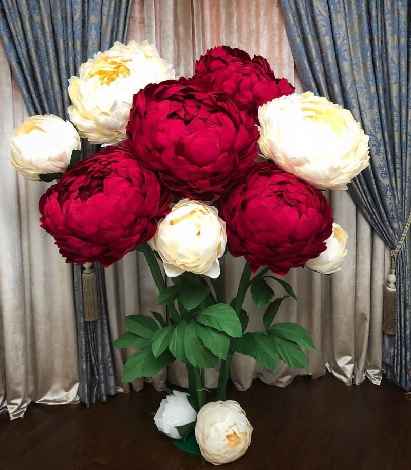 Цветы из гофрированной бумаги - 100 фото красивых букетов своими руками