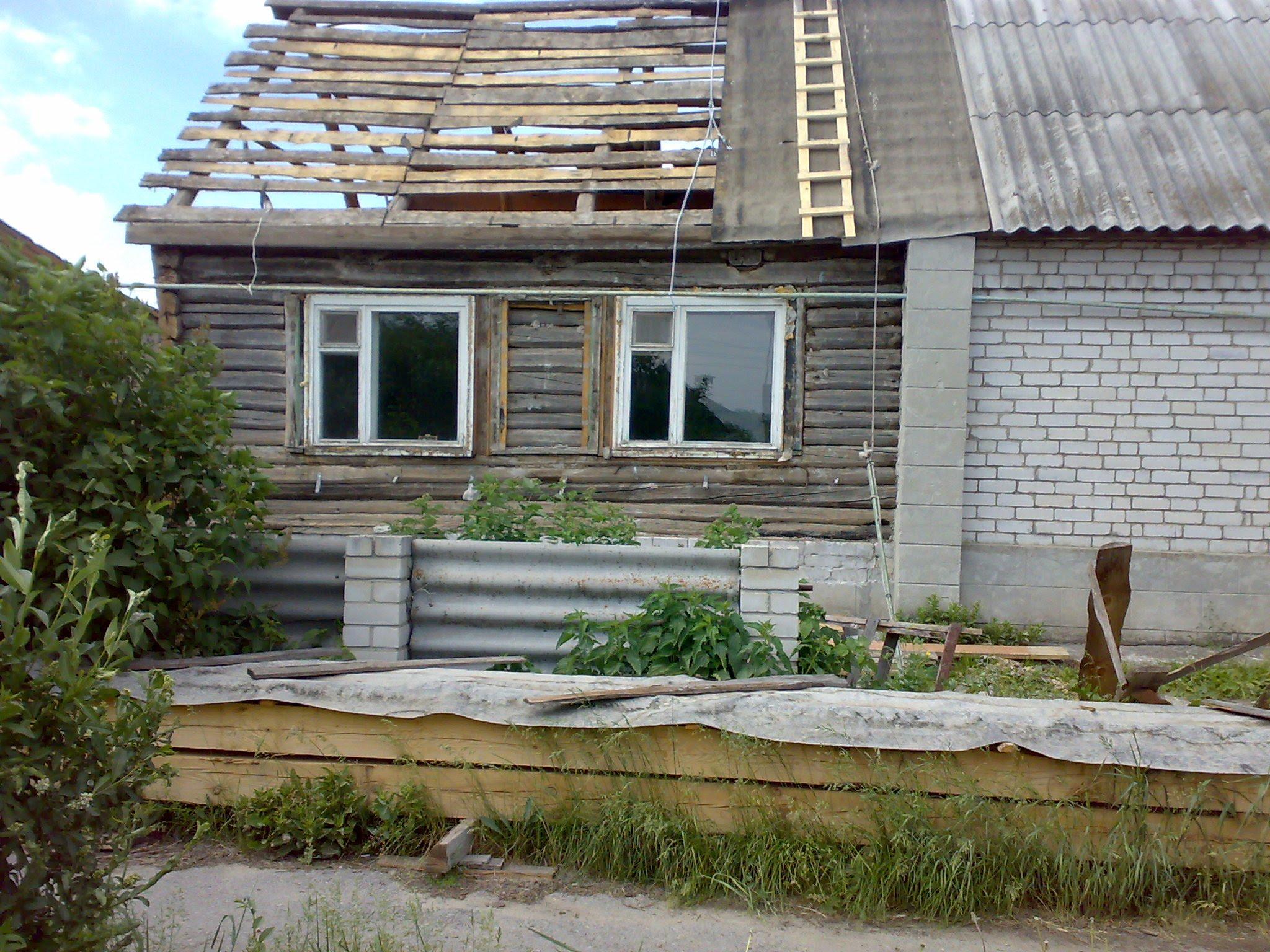 переделка старого деревенского дома