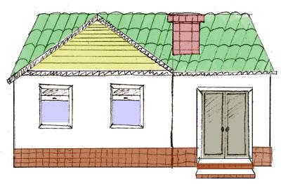 Дом рисунок двухэтажный. как нарисовать дом с помощью карандашей, линейки и акварельных красок
