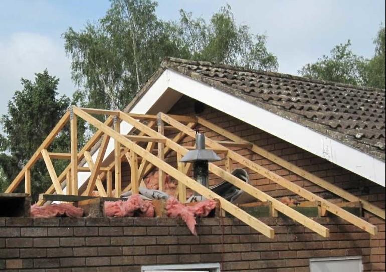 Односкатная крыша для пристройки своими руками