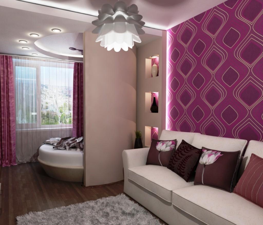 Дизайн гостиной-спальни 20 кв.м: цвета, освещение, 75 фото идей