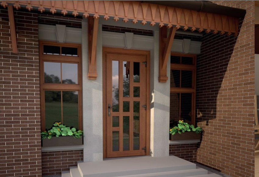Входные пластиковые двери в частном доме (145+ фото): как сделать и надежно, и красиво?