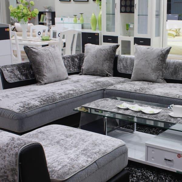 Покрывала на угловой диван: виды и особенности накидок +50 фото