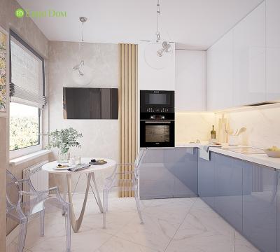 Проекты кухонь с размерами: фото, типы планировки, активные зоны, цветовые решения