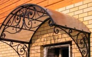 Как сделать козырек над гаражными воротами своими руками, виды навесов и инструкция