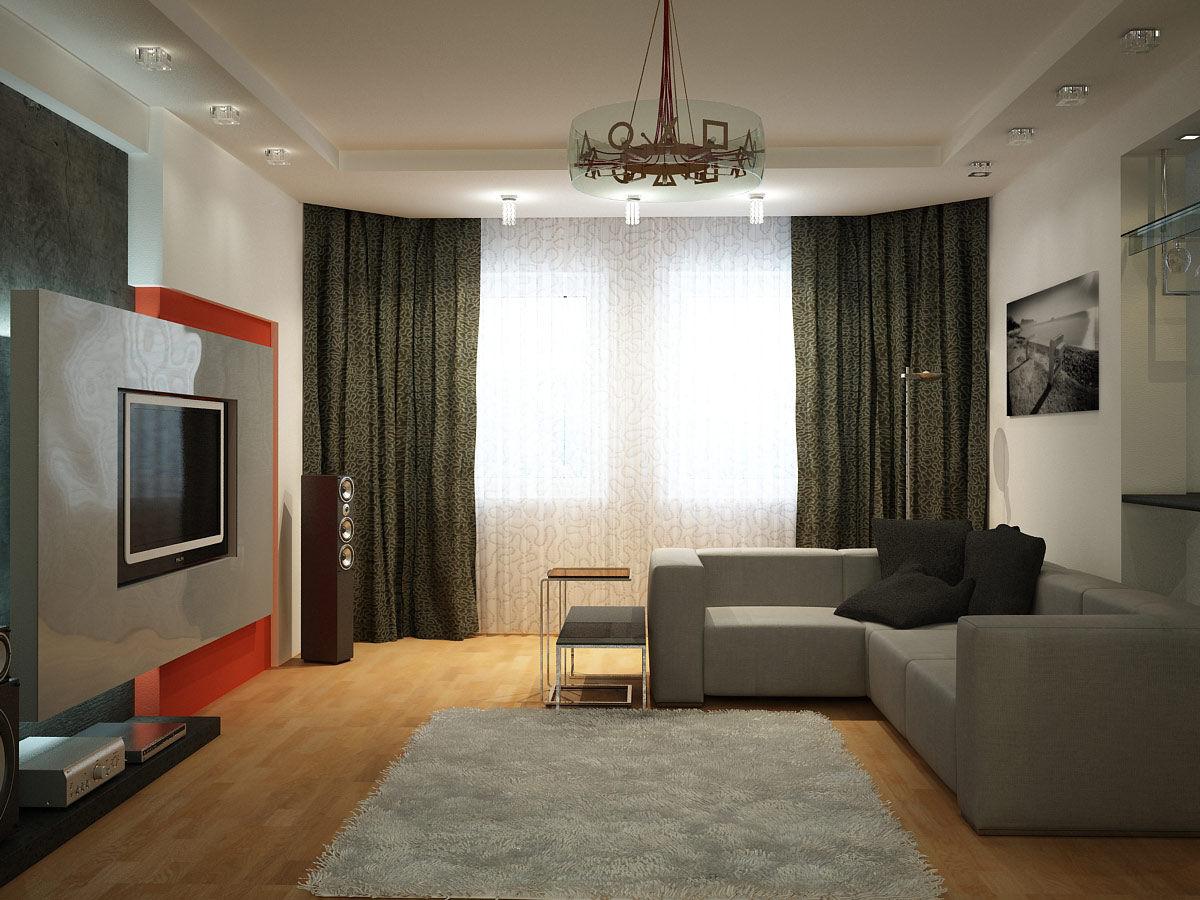 дизайн гостиной в доме в современном стиле