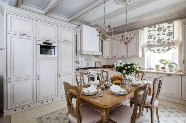 кухня лавандового цвета