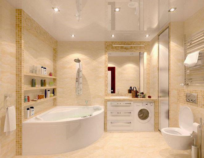 Дизайн ванной комнаты 5 м2 (75 фото): проект со стиральной машиной на 6 м2, варианты интерьера