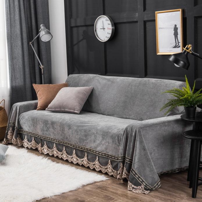 ковровые покрывала на диван и кресла