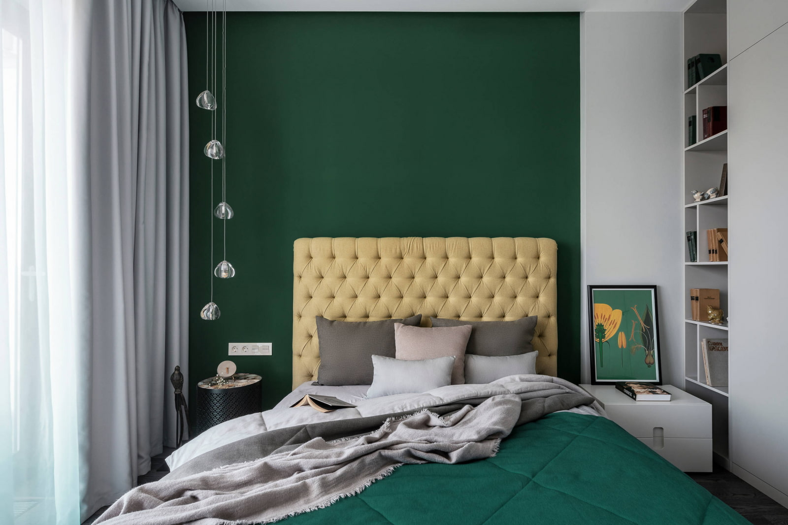 цвет стен в спальне под покраску