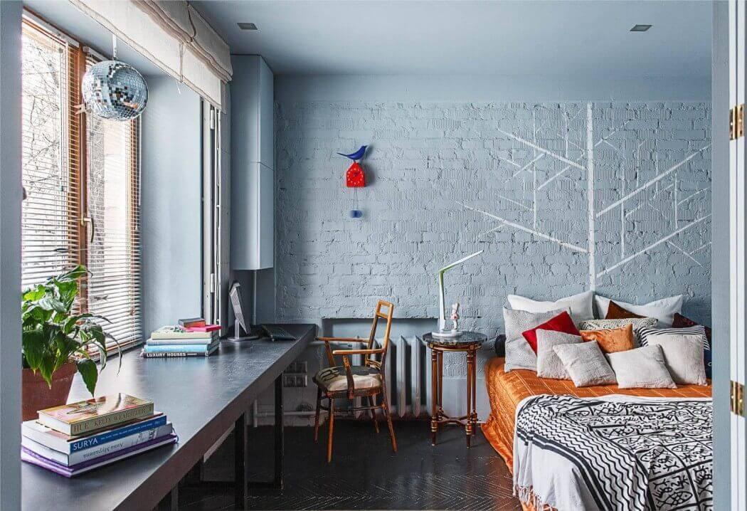 Покраска стен в интерьере: виды, дизайн, сочетания, выбор цвета, 80+ фото
