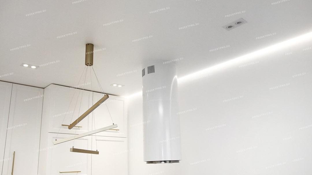 Конструкция, комплектующие и монтаж парящего натяжного потолка