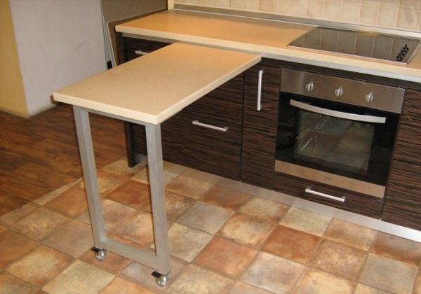 выдвижная столешница на кухне
