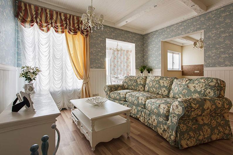 Двойные шторы в гостиную: современный дизайн и правила выбора