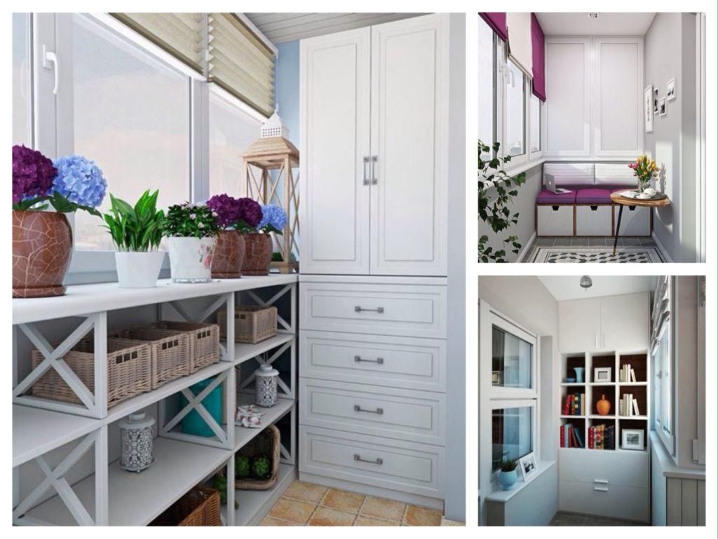 Шкаф на балкон (50 фото) - дизайн, материалы, особенности выбора
