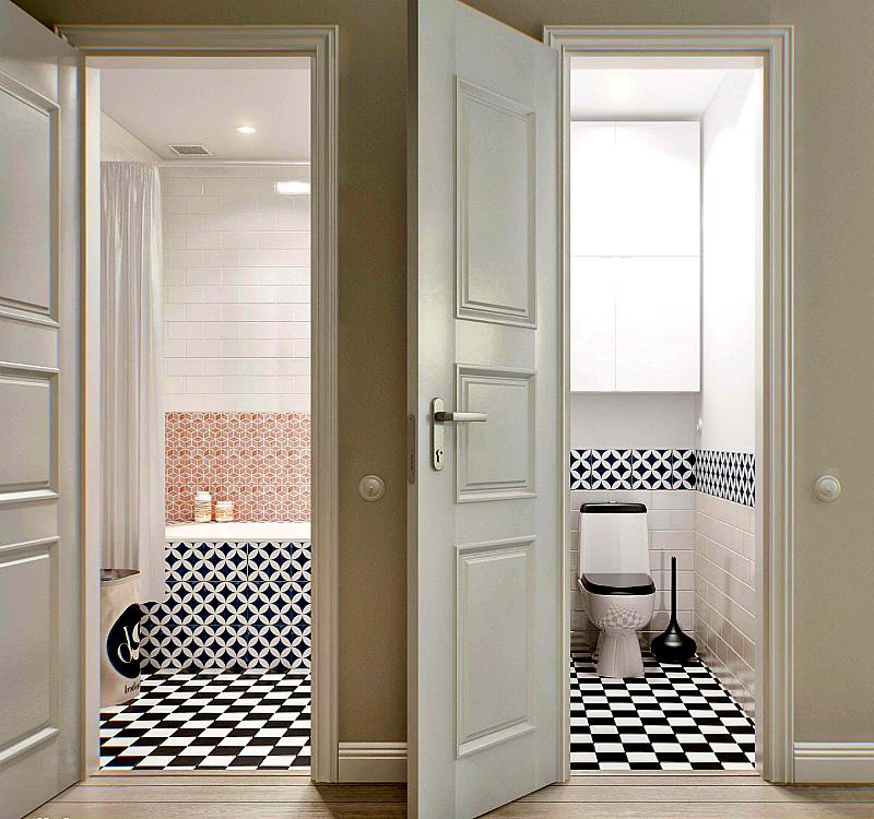 Двери в ванную комнату и туалет: какие лучше всего, установка, размеры и фото примеров