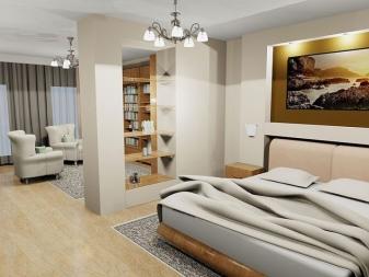 Дизайн комнаты 18 кв.м: функционал и обустройство спальни-гостиной