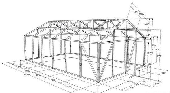 Деревянная теплица своими руками ⭐ как построить на даче ⭐ видео + фото