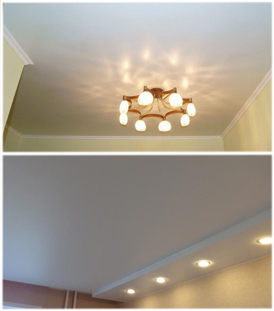 Лампочки для натяжного потолка: какой тип выбрать