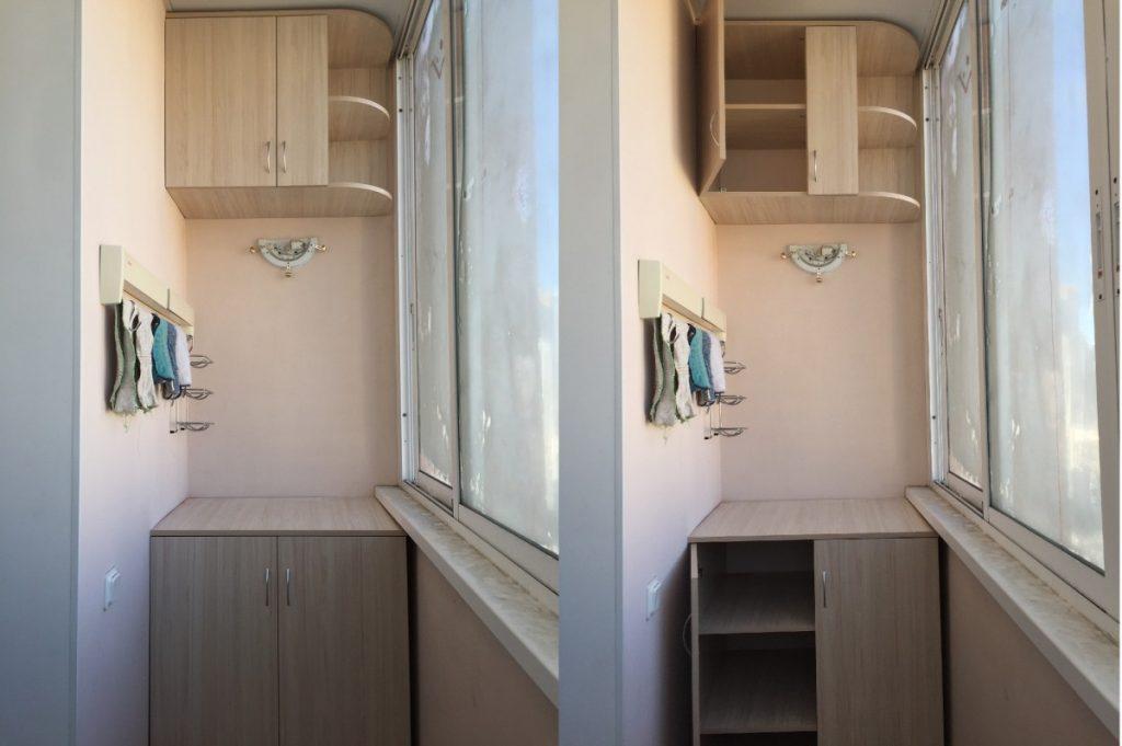 идеи шкафа на балконе