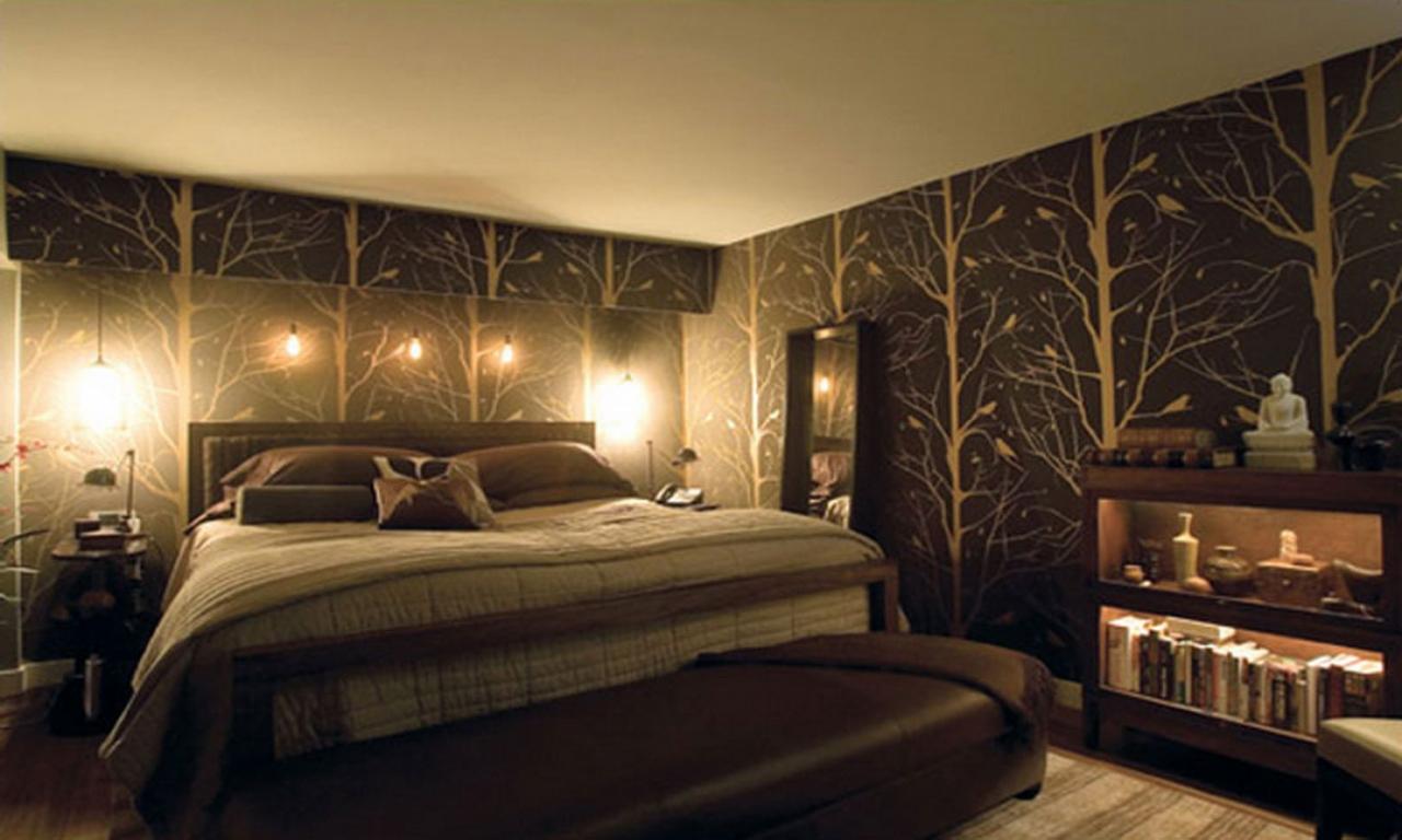 коричневые обои для стен