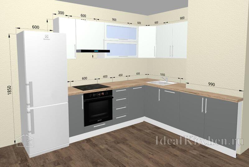 Замена кухонных фасадов под ключ в москве