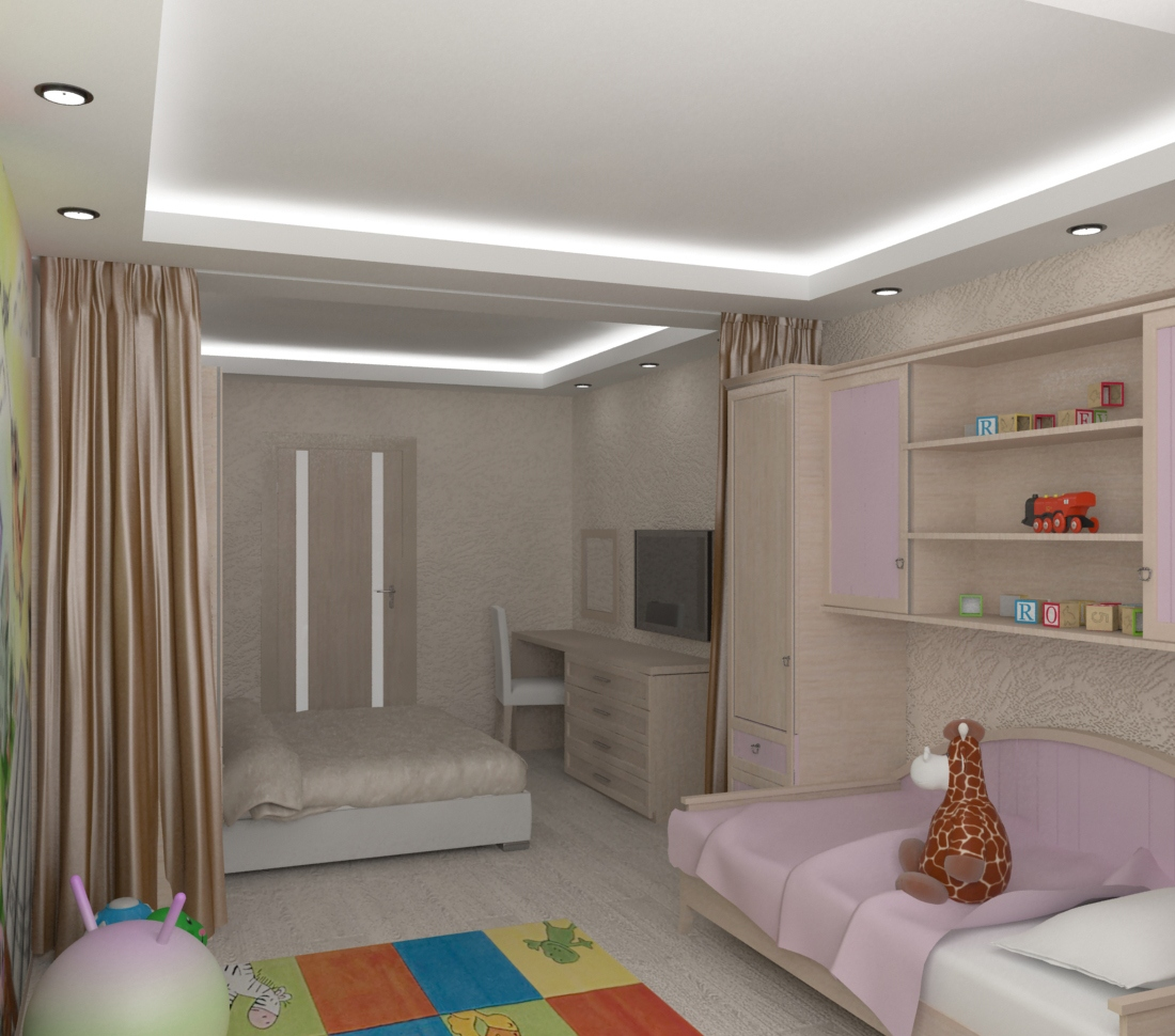 Детская спальня в комнате для родителей: способы зонирования помещения на детскую и взрослую, советы по оформлению