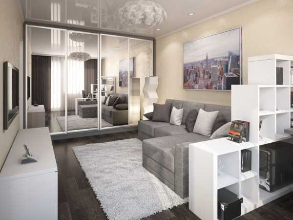 Дизайн проект однокомнатной квартиры: 5 готовых вариантов
