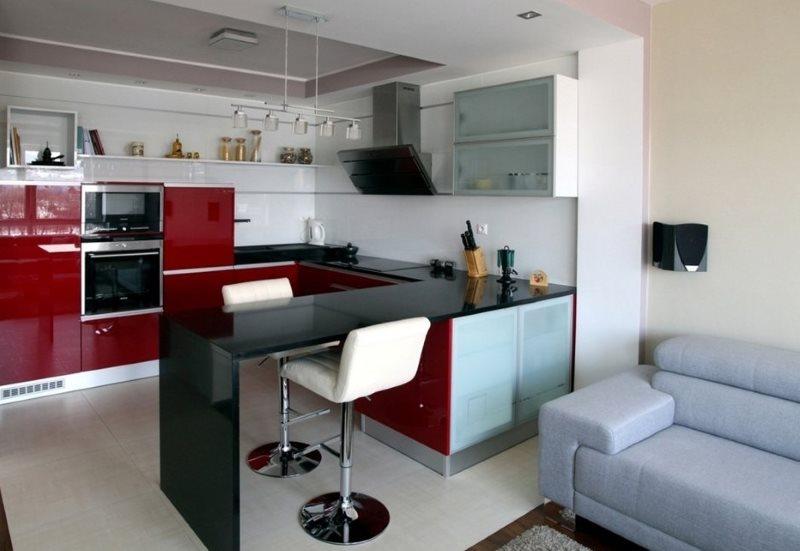 Дизайн кухни 16 кв м - планировки на 60 фото + примеры с гостиной