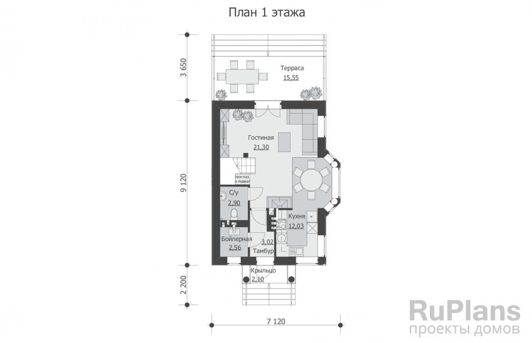 Проект дома 7 на 9 с мансардой – преимущества и недостатки готового жилья