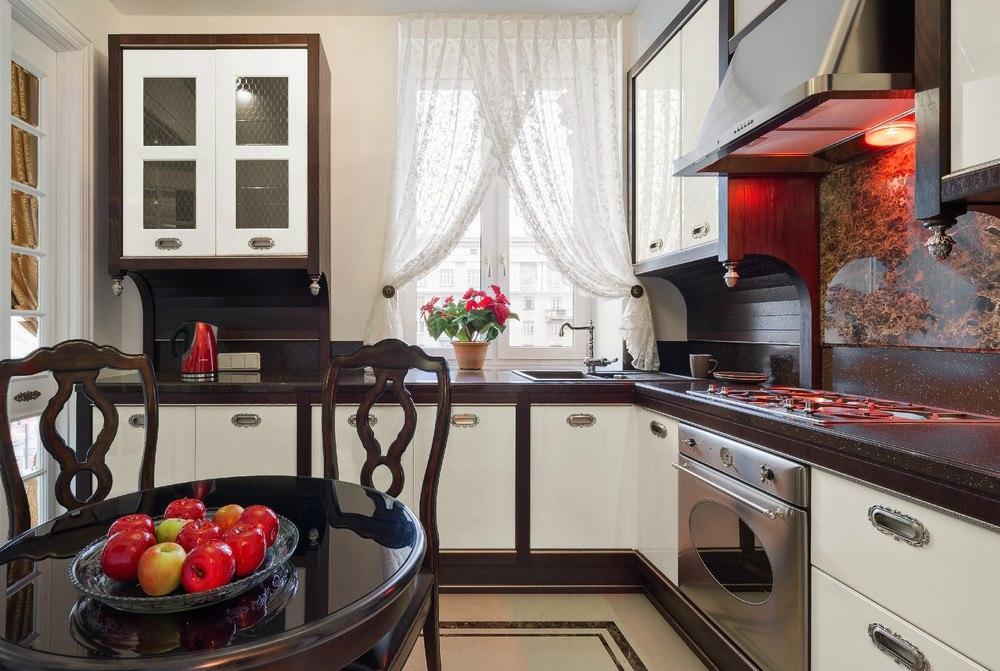 Современные короткие шторы на кухню (78 фото): дизайн занавесок 2020 года - новинки