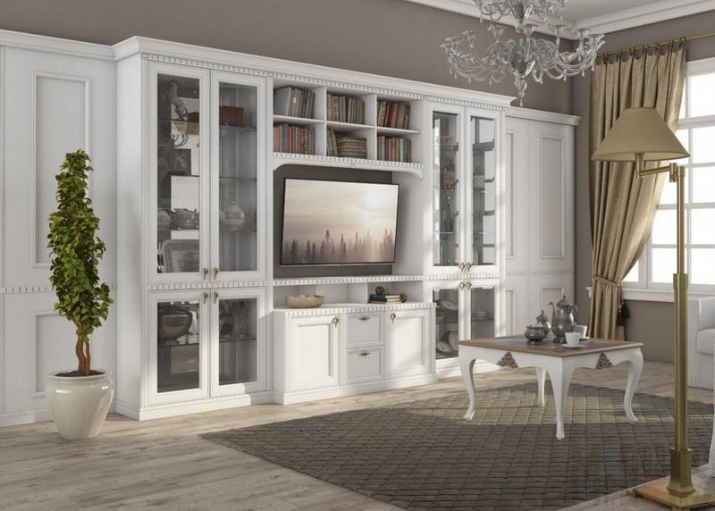 Современные стенки в гостиную. современный стиль + 370 фото