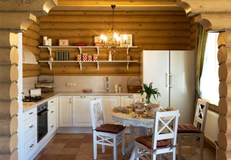 Дизайн интерьера кухни-столовой с гостиной в частном доме