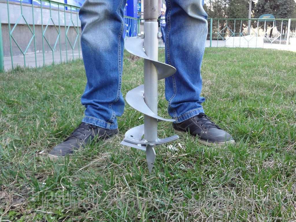 Ручной бур своими руками: садовые самодельные буры для земли. как сделать земляной ямобур самому по чертежам из диска?